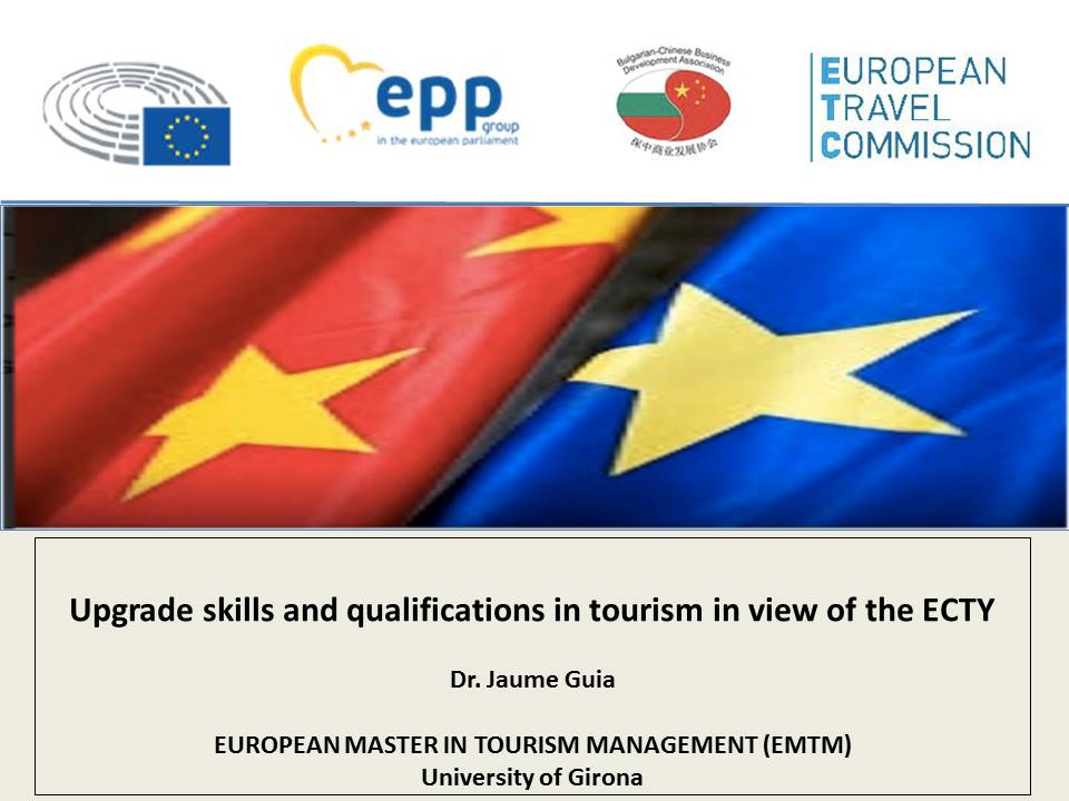 Upgrade skills and qualifications in tourism in view of the ECTY
